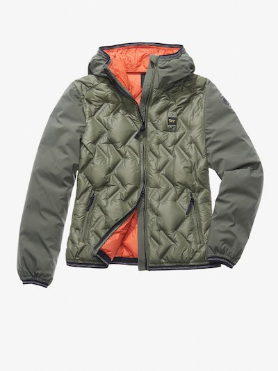 MATILDE NYLON AND SOFTSHELL DOWN JACKET