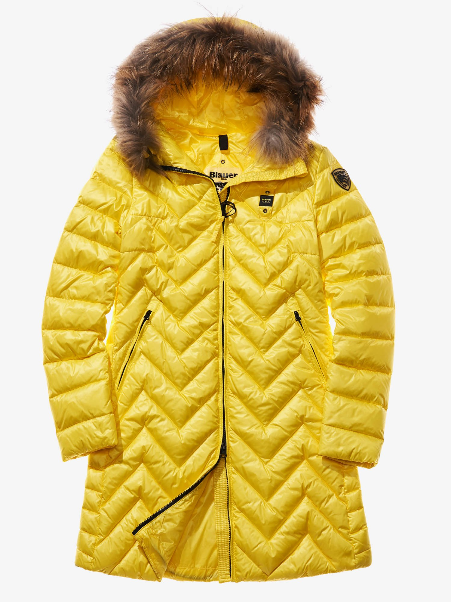 LUDOVICA ZIG ZAG-QUILTED DOWN COAT - Blauer