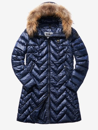 LUDOVICA ZIG ZAG-QUILTED DOWN COAT