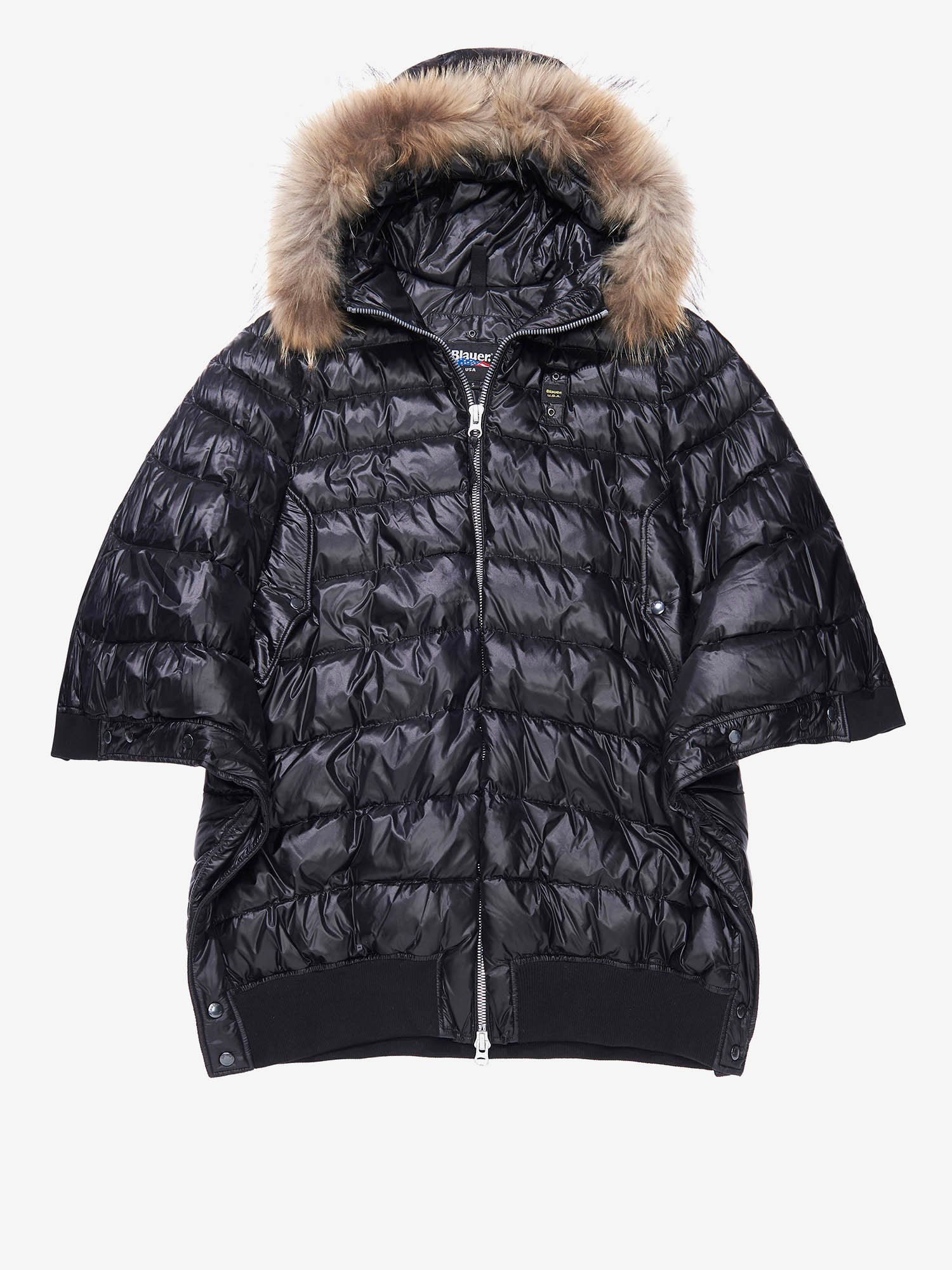 VIOLA DOWN CAPE JACKET - Blauer