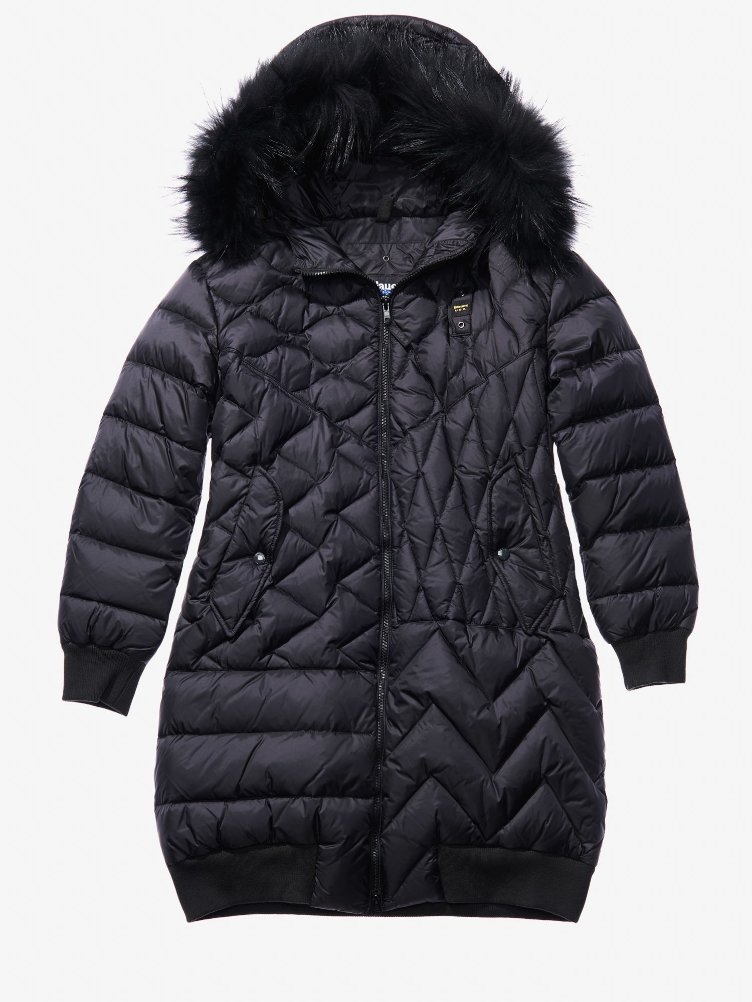 Blauer - GIADA DOWN COAT WITH FUR - Black - Blauer