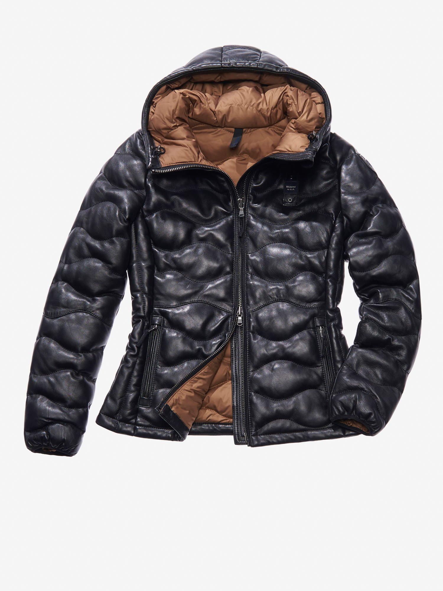 GIOIA PADDED LEATHER JACKET - Blauer
