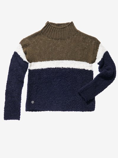 PULL COL MONTANT A RAYURES