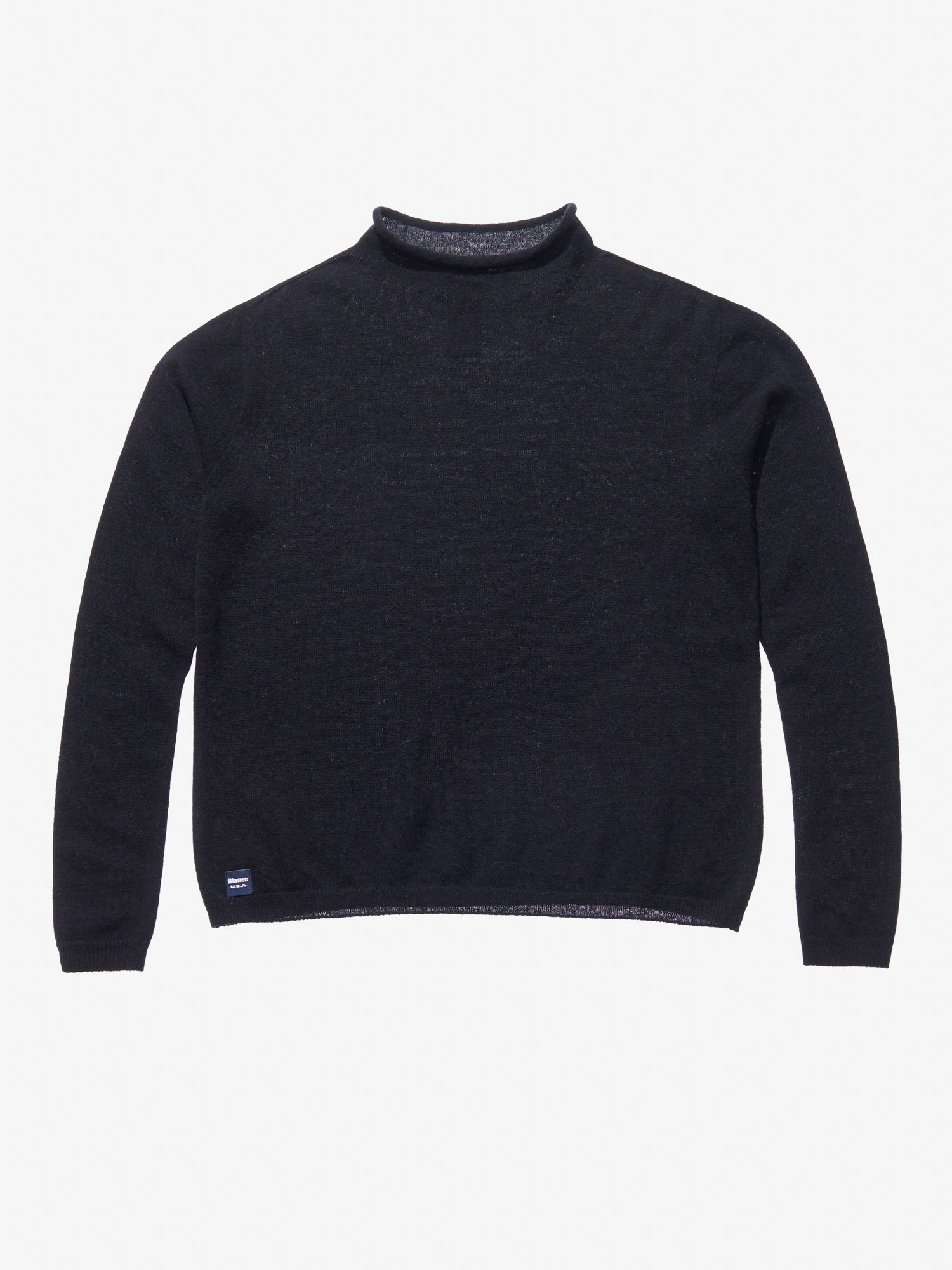 STOCKING STITCH KNIT WOOL CASHMERE TURTLENECK - Blauer
