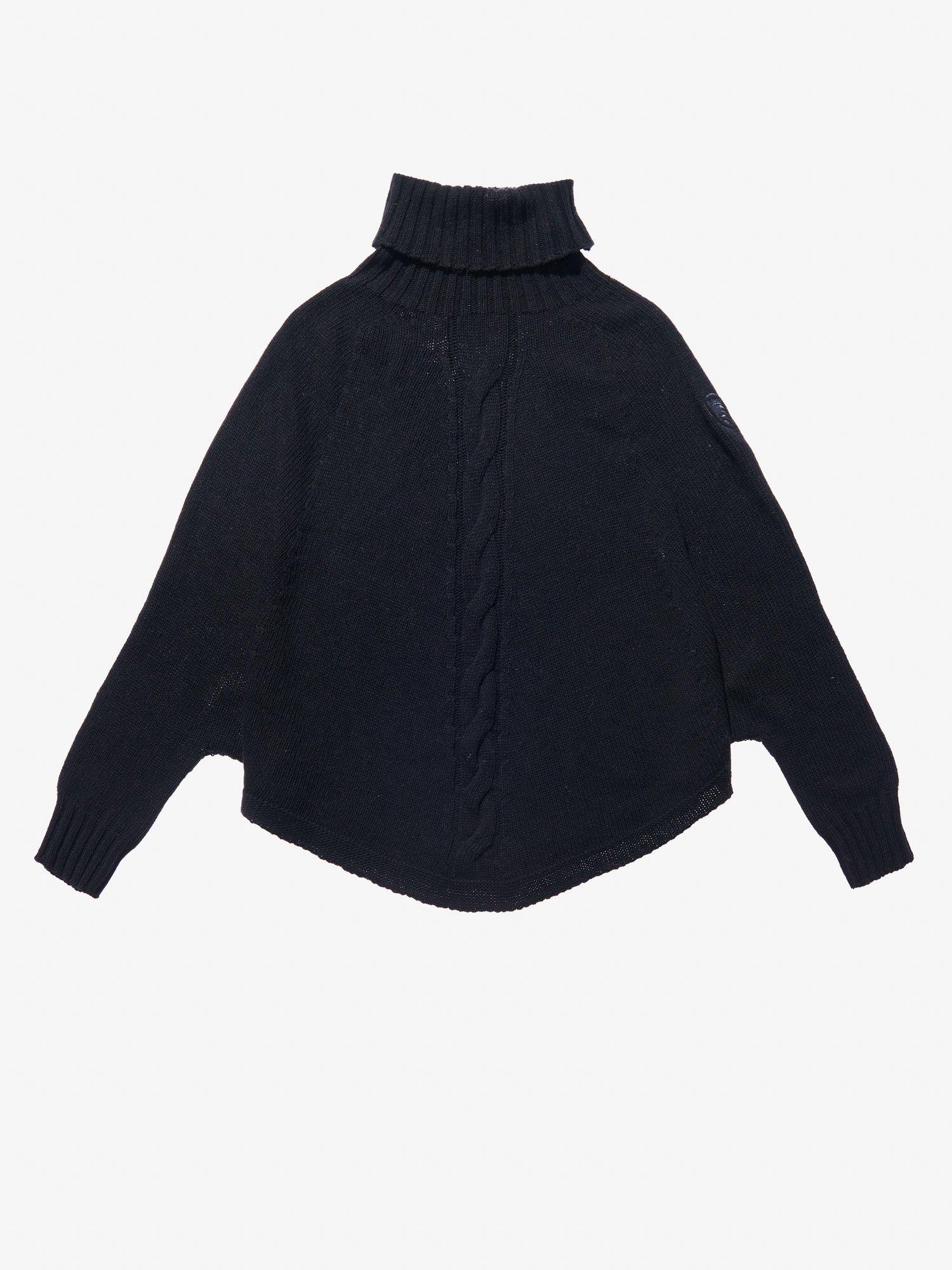 Blauer - CAPE STYLE SWEATER - Black - Blauer