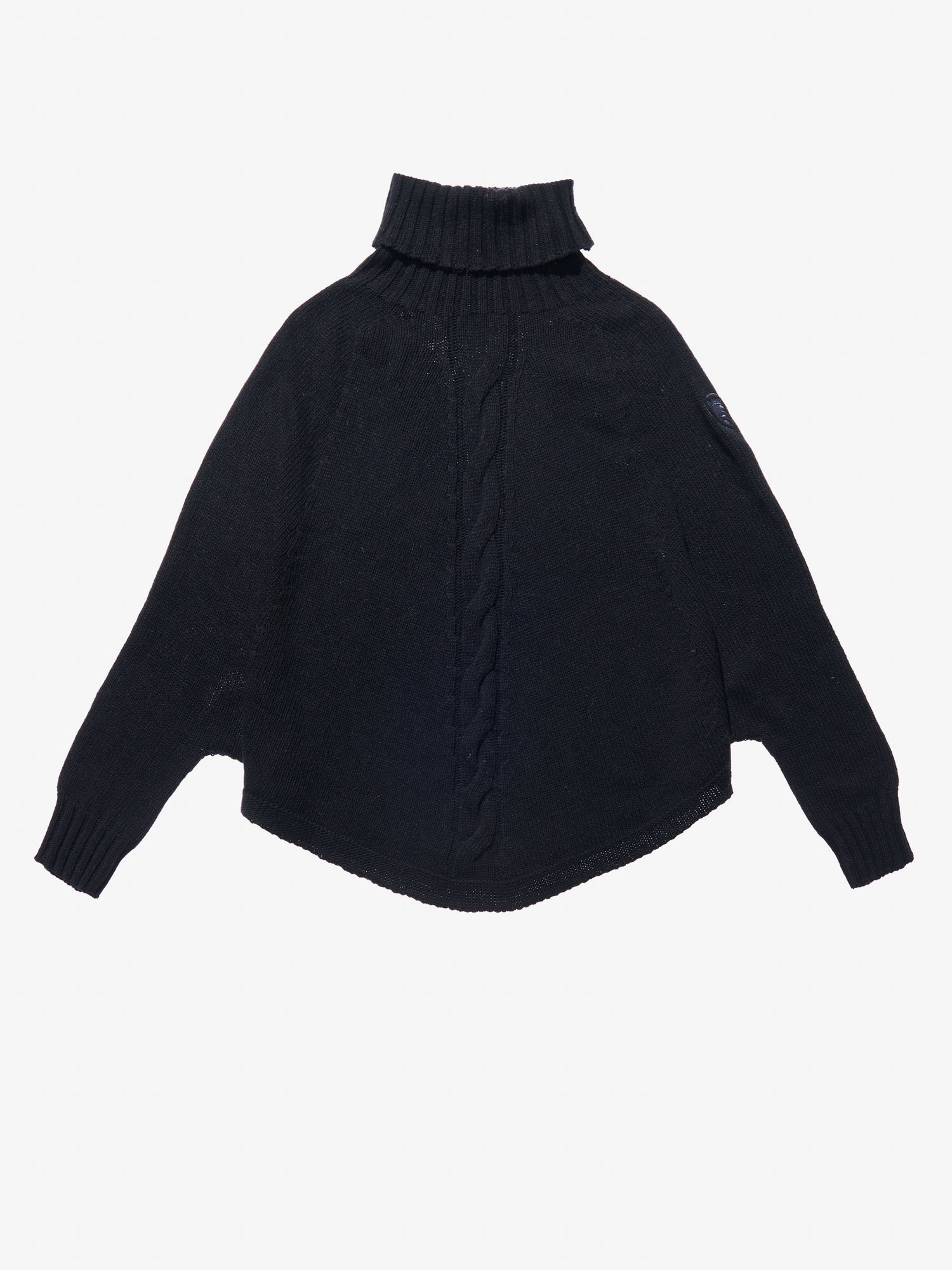 Blauer - CAPE STYLE SWEATER - Black - Blauer