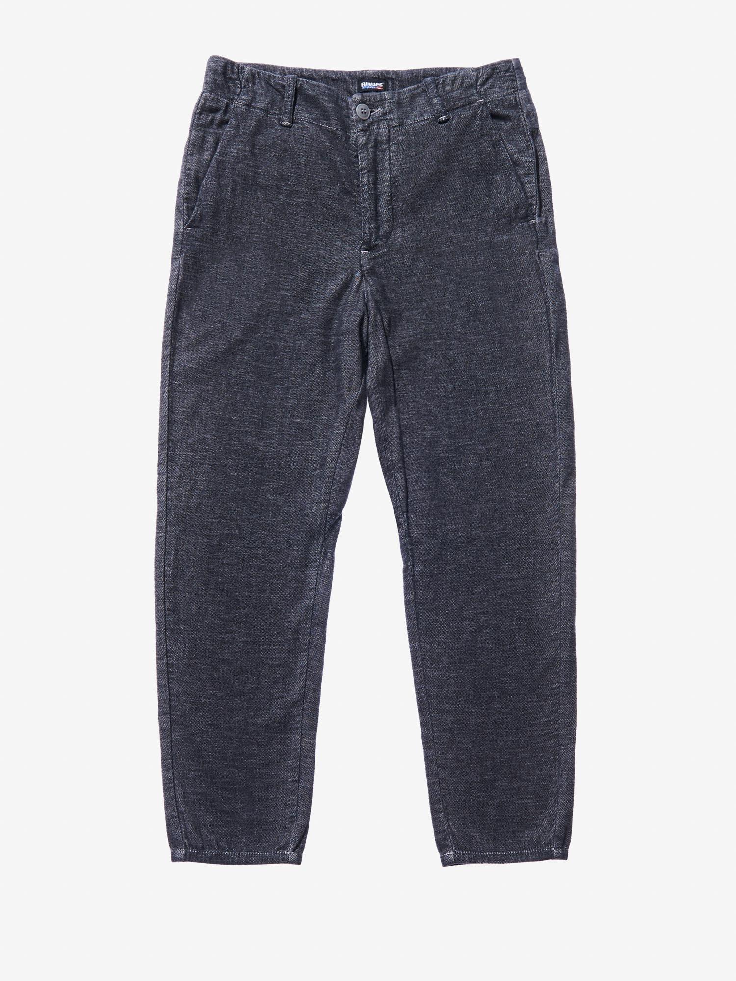 Blauer - MELANGE PANTS - Cloudy Grey - Blauer