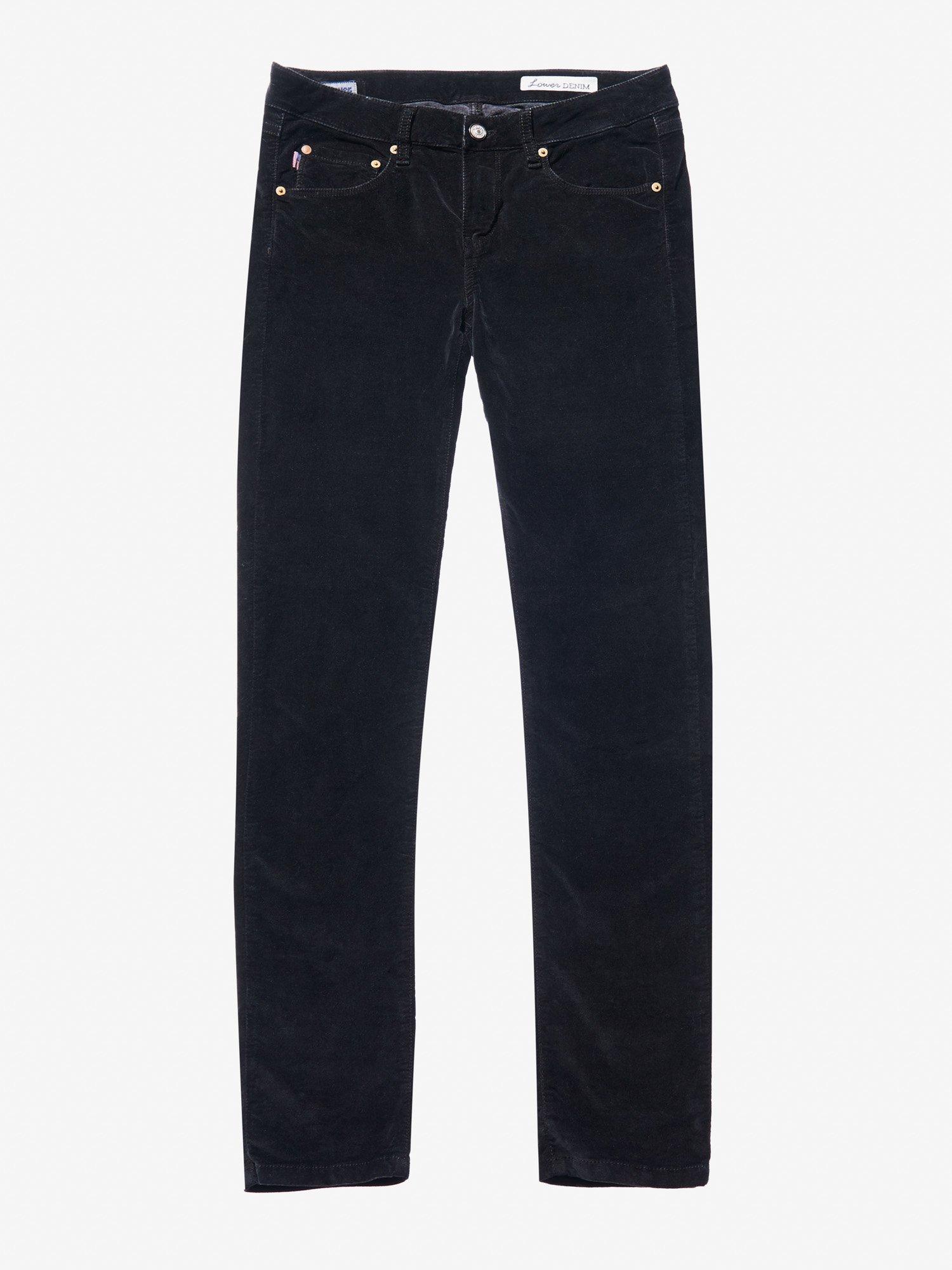 Blauer - VELVET PANTS - Black - Blauer
