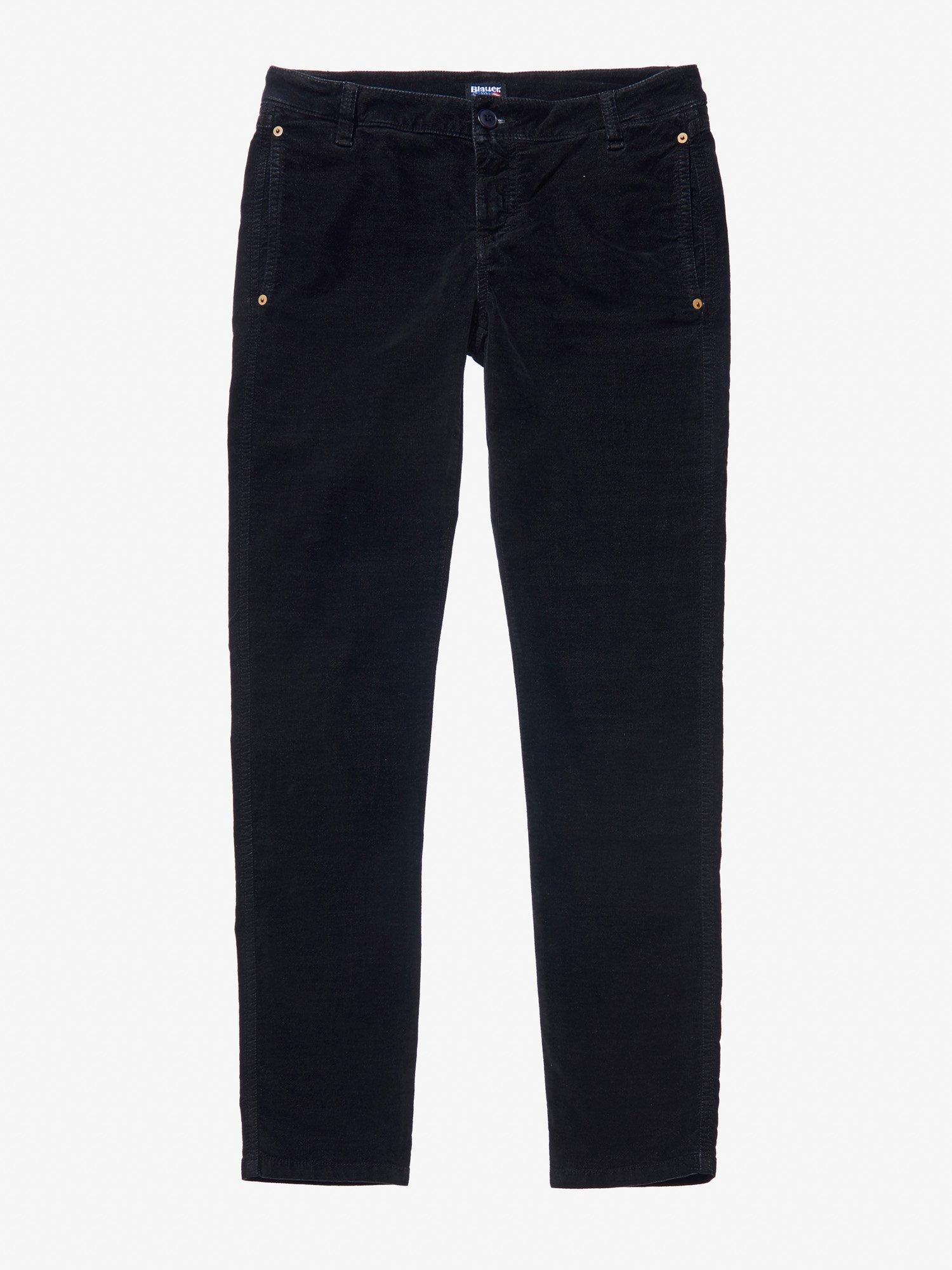 Blauer - FINE WALE CORDUROY PANTS - Black - Blauer