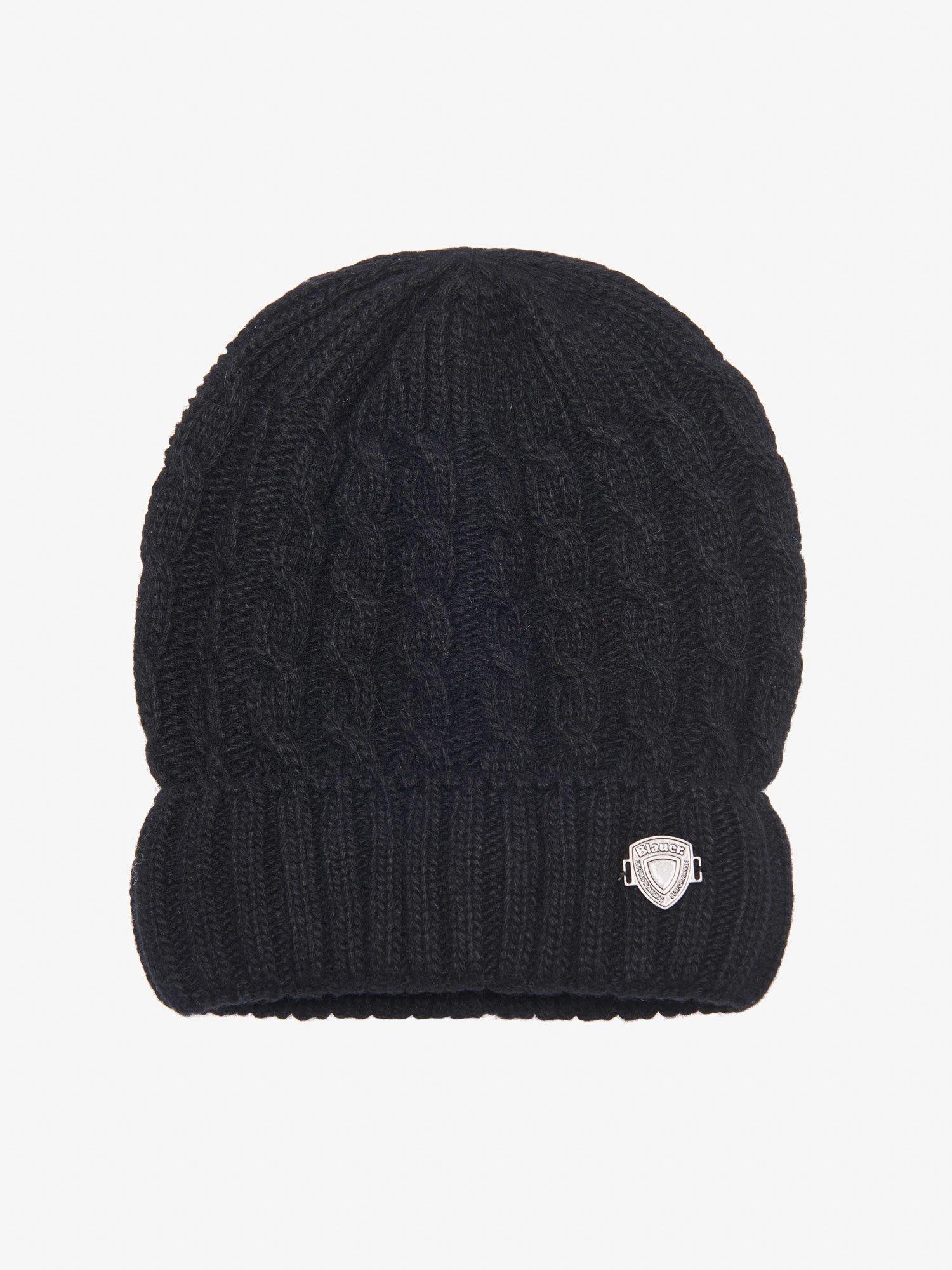 Blauer - JUNIOR CAP WITH CUFF - Black - Blauer