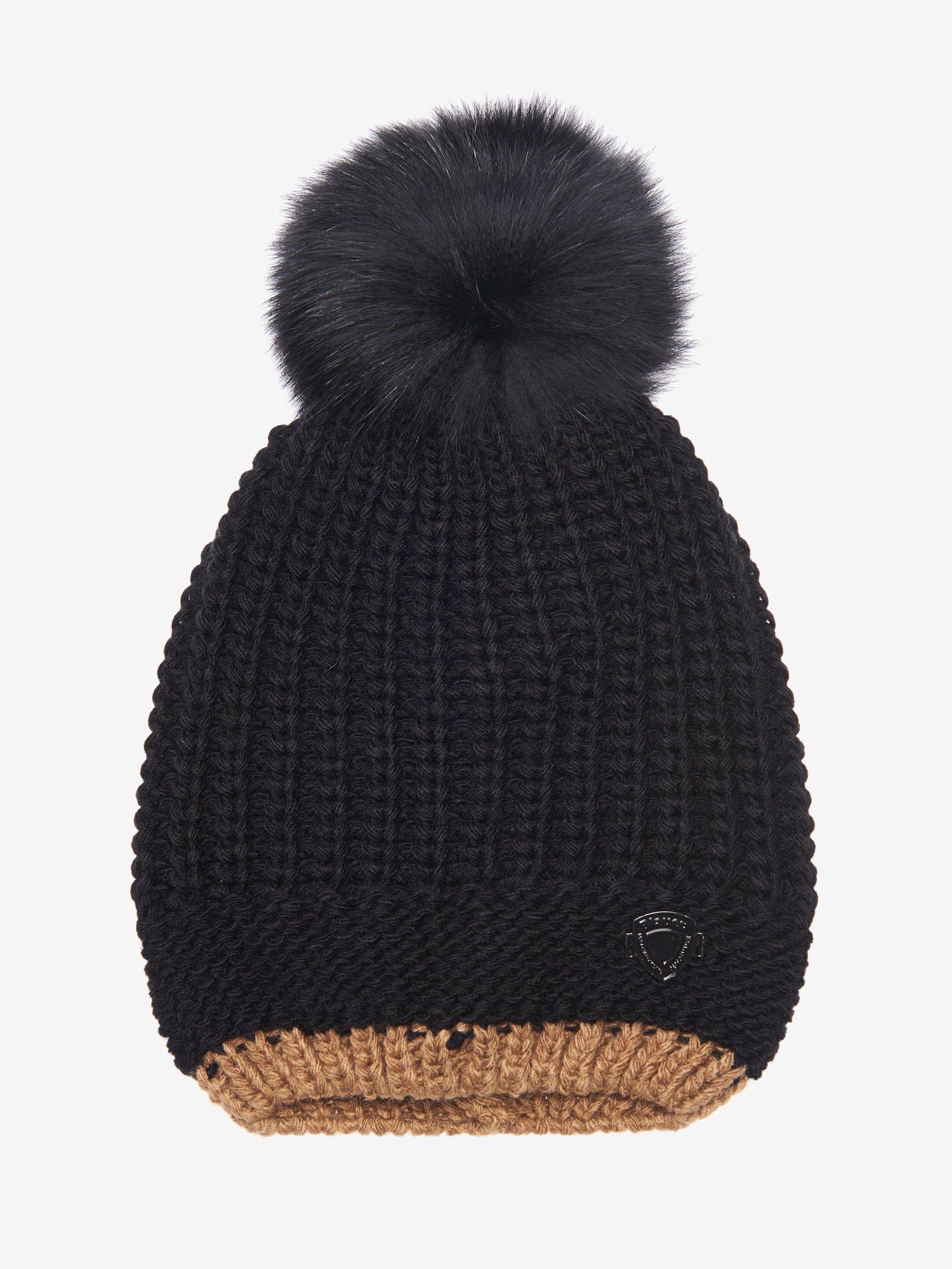 JUNIOR CAP WITH POM POM - Blauer