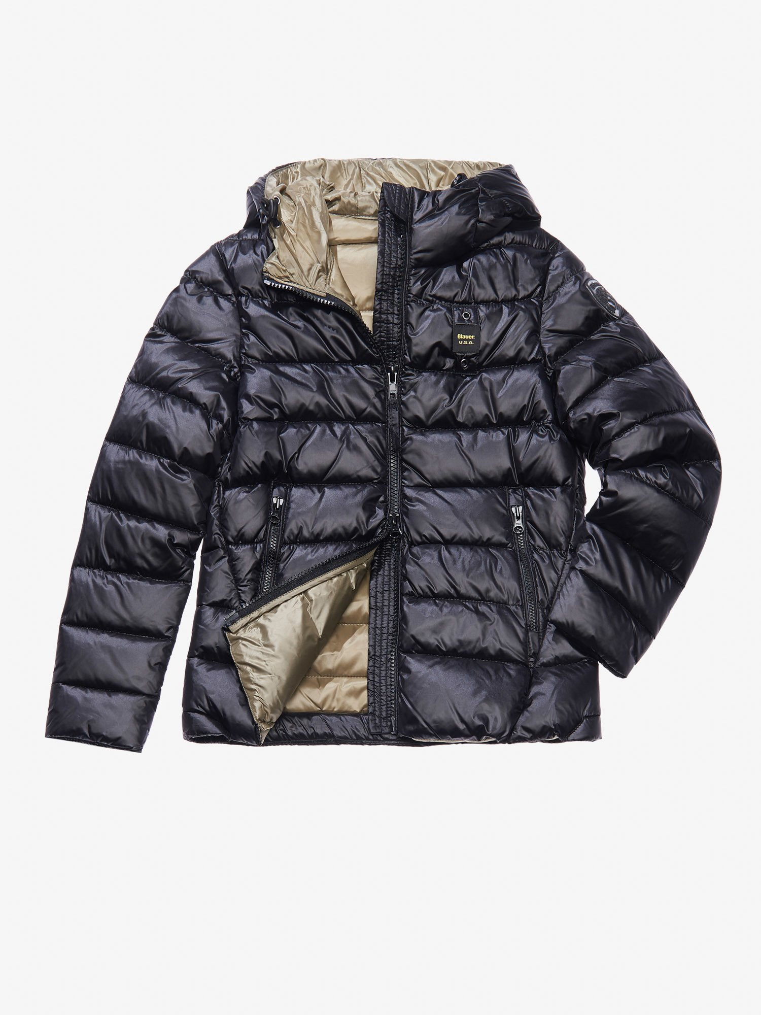 ARIA DOWN JACKET WITH ATTACHED HOOD - Blauer
