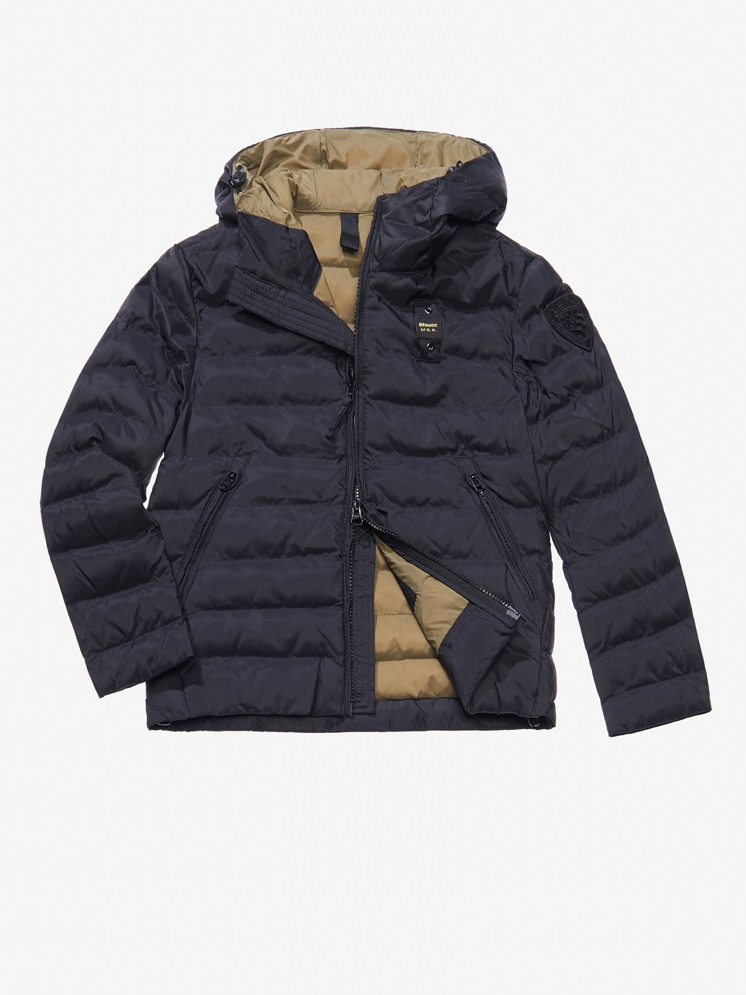 JAGO NYLON MICRO RIP DOWN JACKET WITH HOOD - Blauer
