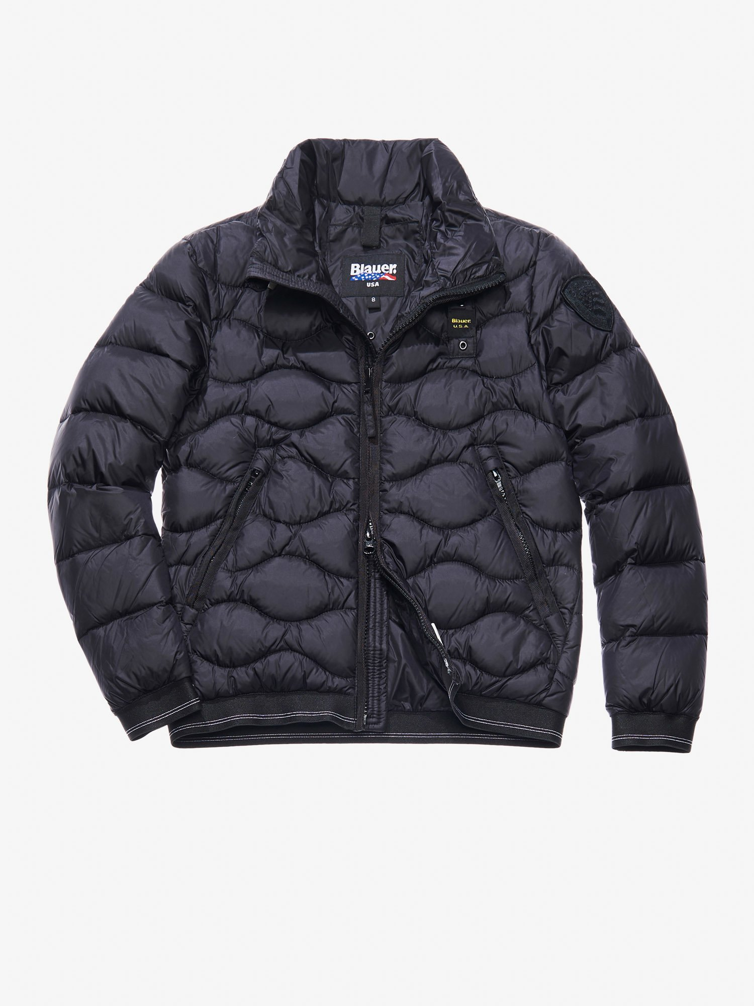 Blauer - VASCO WAVE-QUILTED DOWN JACKET - Black - Blauer