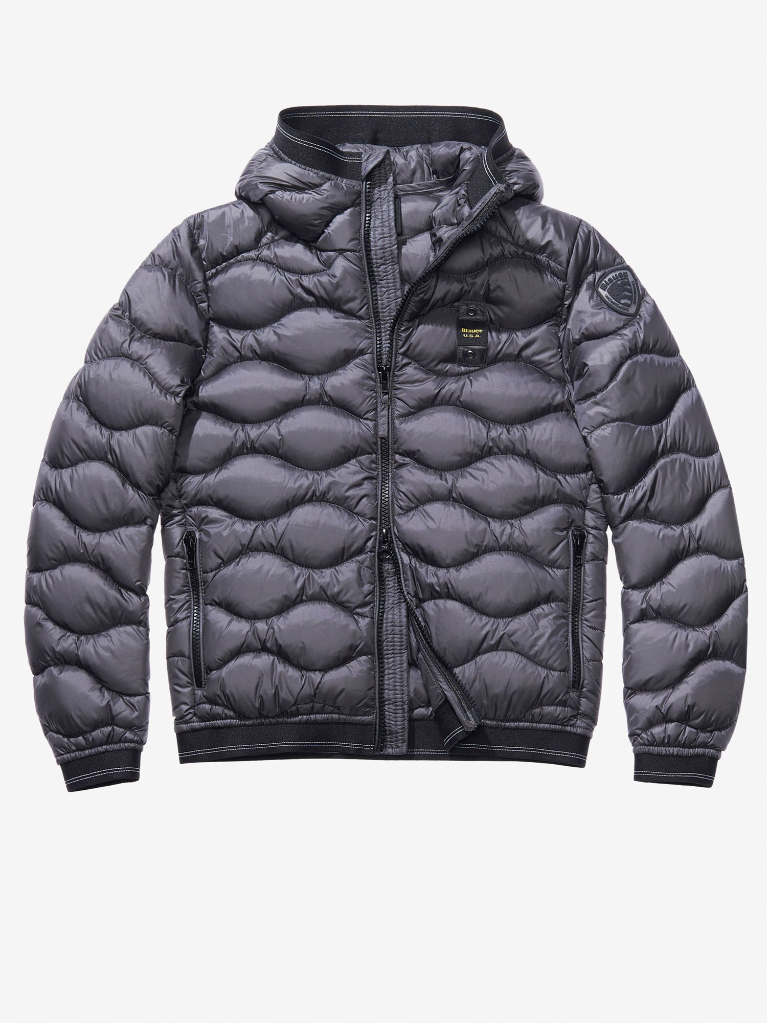ORLANDO WAVE-QUILTED DOWN JACKET WITH HOOD - Blauer