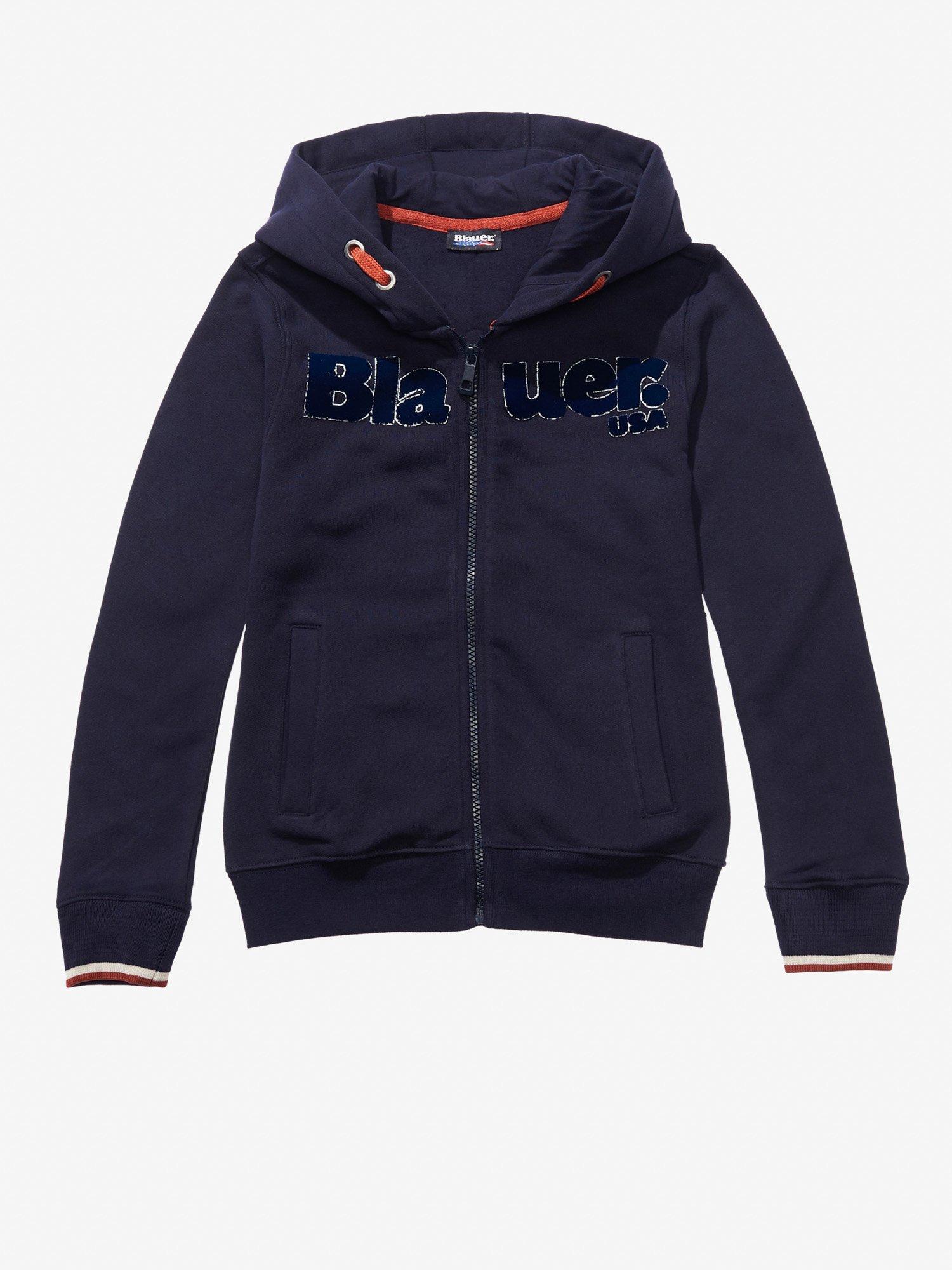 Blauer - COTTON ZIP SWEATSHIRT - Dark Night Blue - Blauer