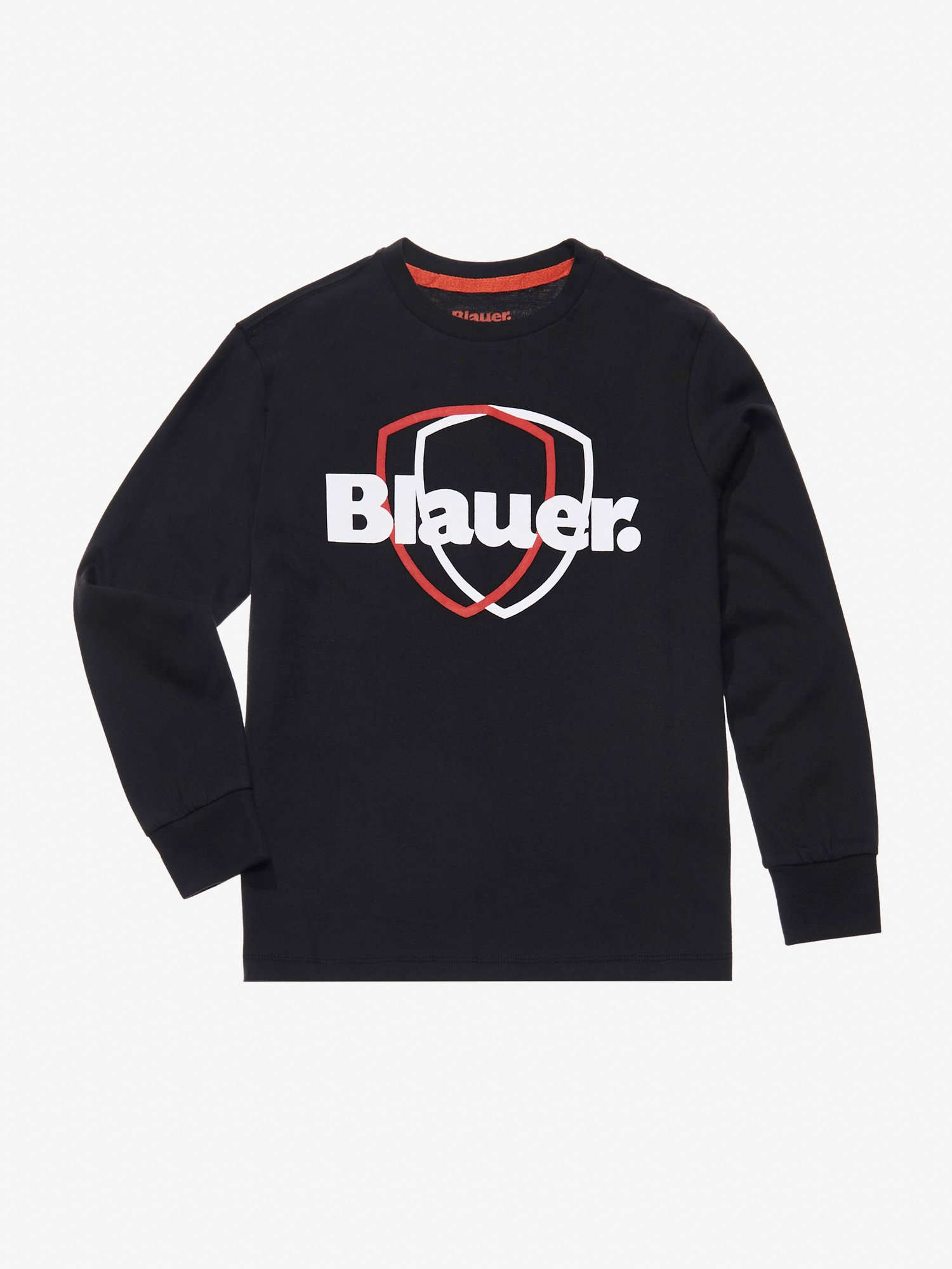 Blauer - DOUBLE SHIELD COTTON JERSEY SWEATER - Black - Blauer