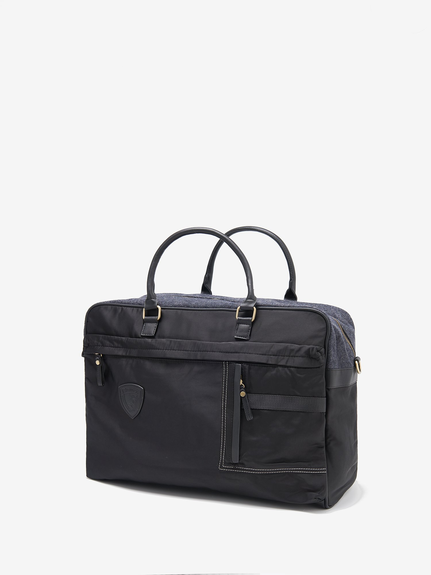 Blauer - XL BRIEFCASE WITH HANDLES AND SHOULDER STRAP - Black - Blauer