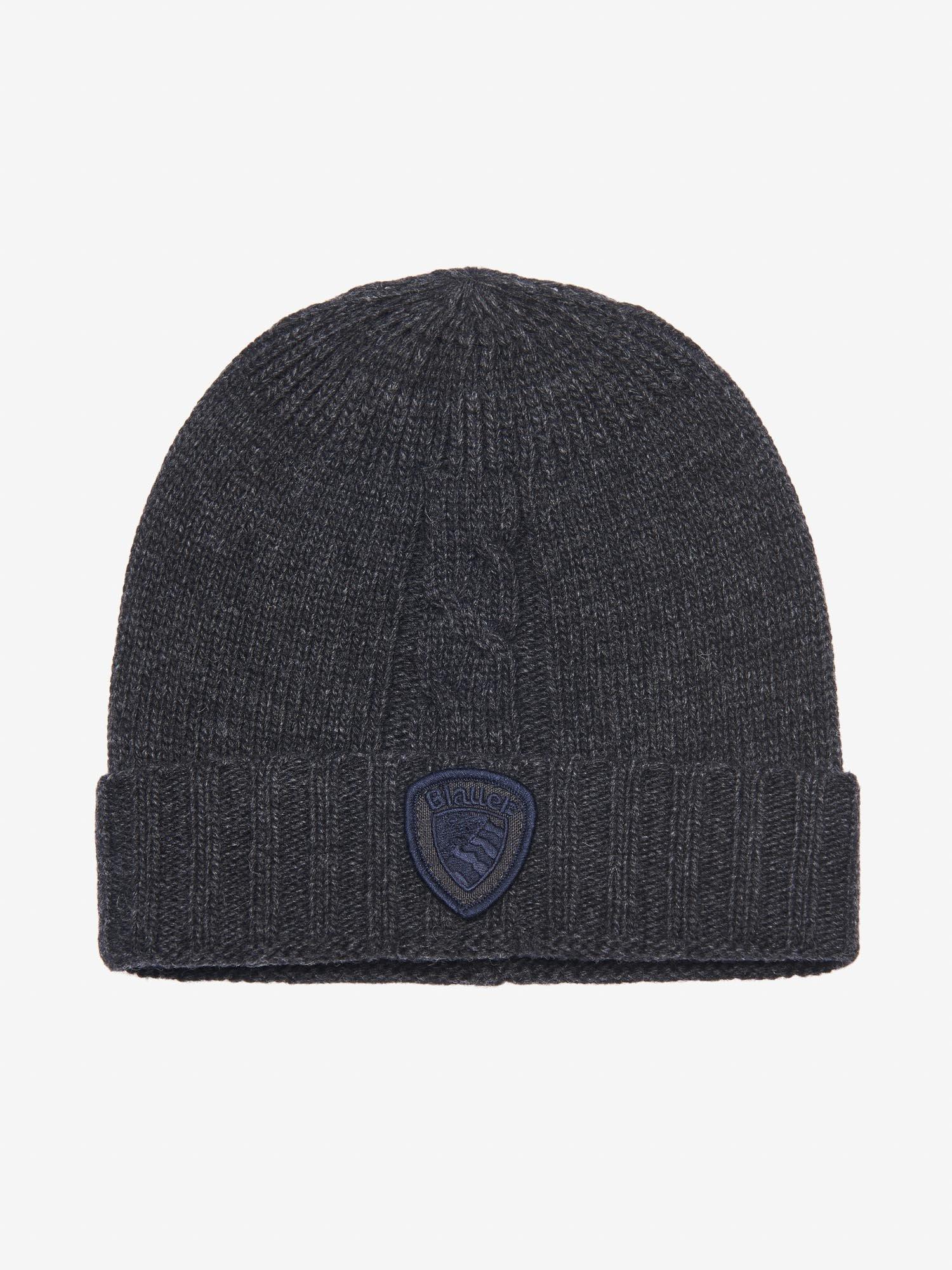 CASHMERE-WOOL CAP - Blauer