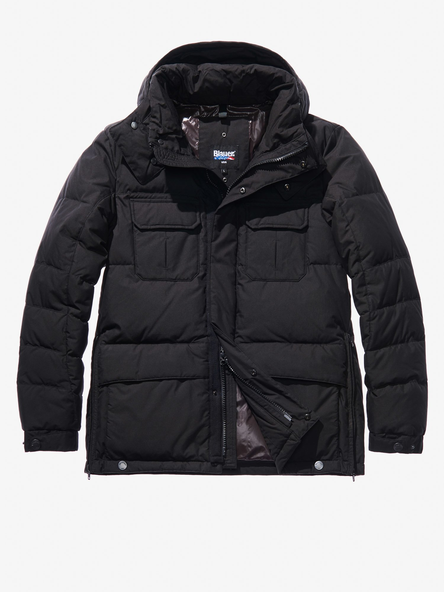 Blauer - GABRIELE COTTON AND NYLON POLICE-STYLE DOWN COAT - Black - Blauer