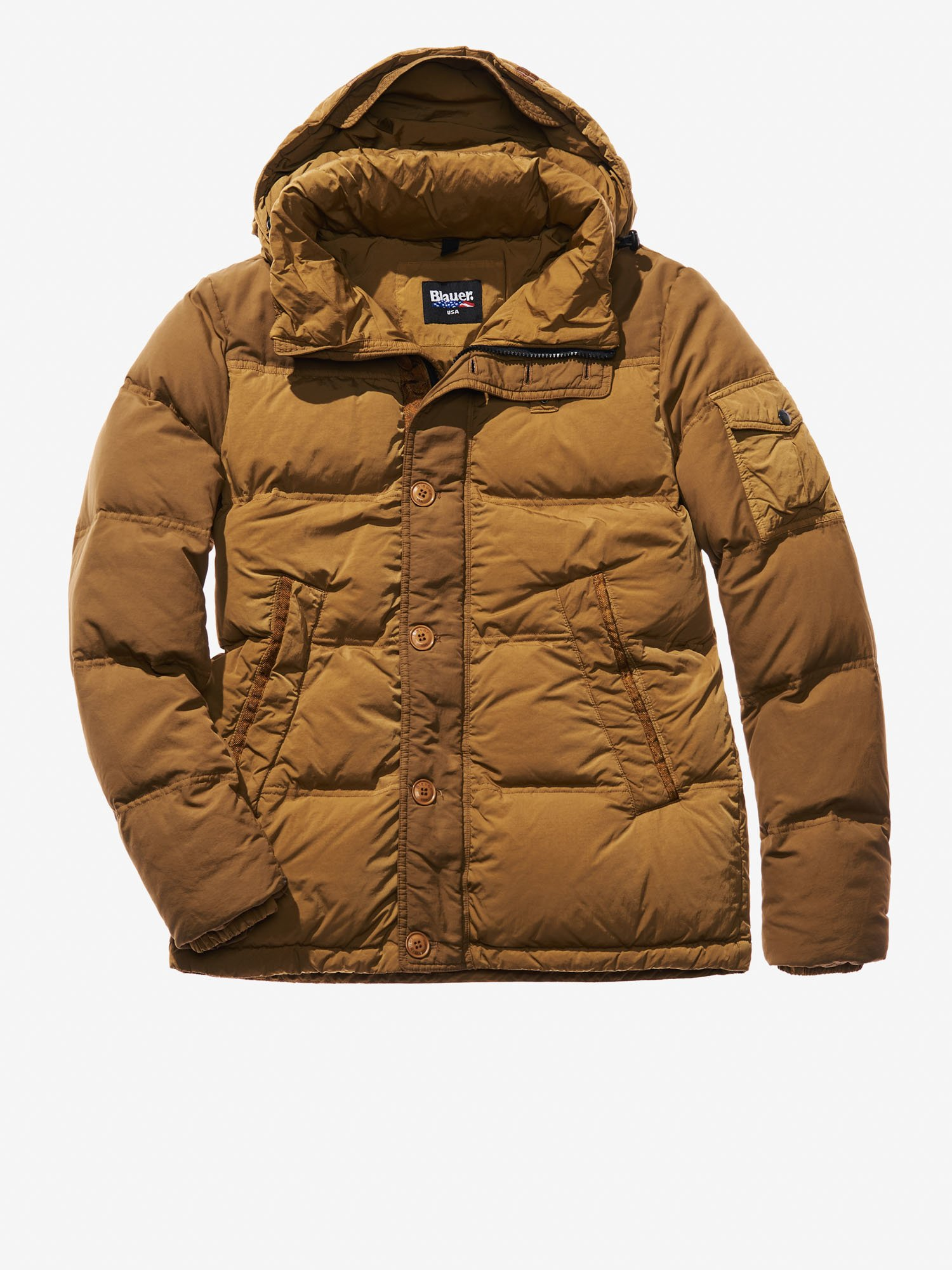 Blauer - MATTEO GARMENT DYED DOWN JACKET - Hazelnut - 1 ... 9be114979c6b