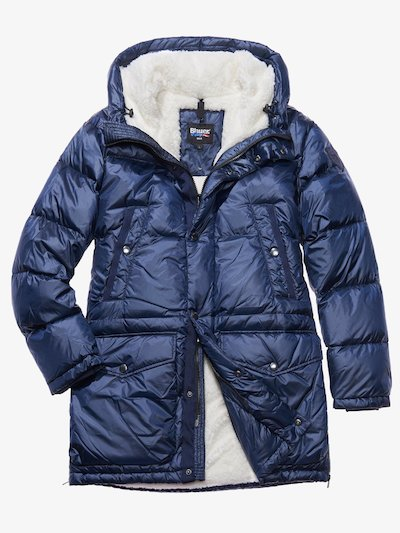 LEONARDO DOWN COAT WITH FAUX FUR LINING