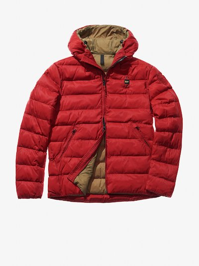 ANTONIO MICRO RIP NYLON DOWN JACKET WITH HOOD