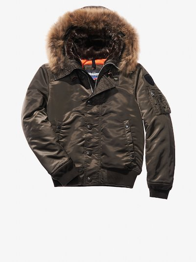 BOMBER AVIATOR IN SATIN LUCIDO ETTORE