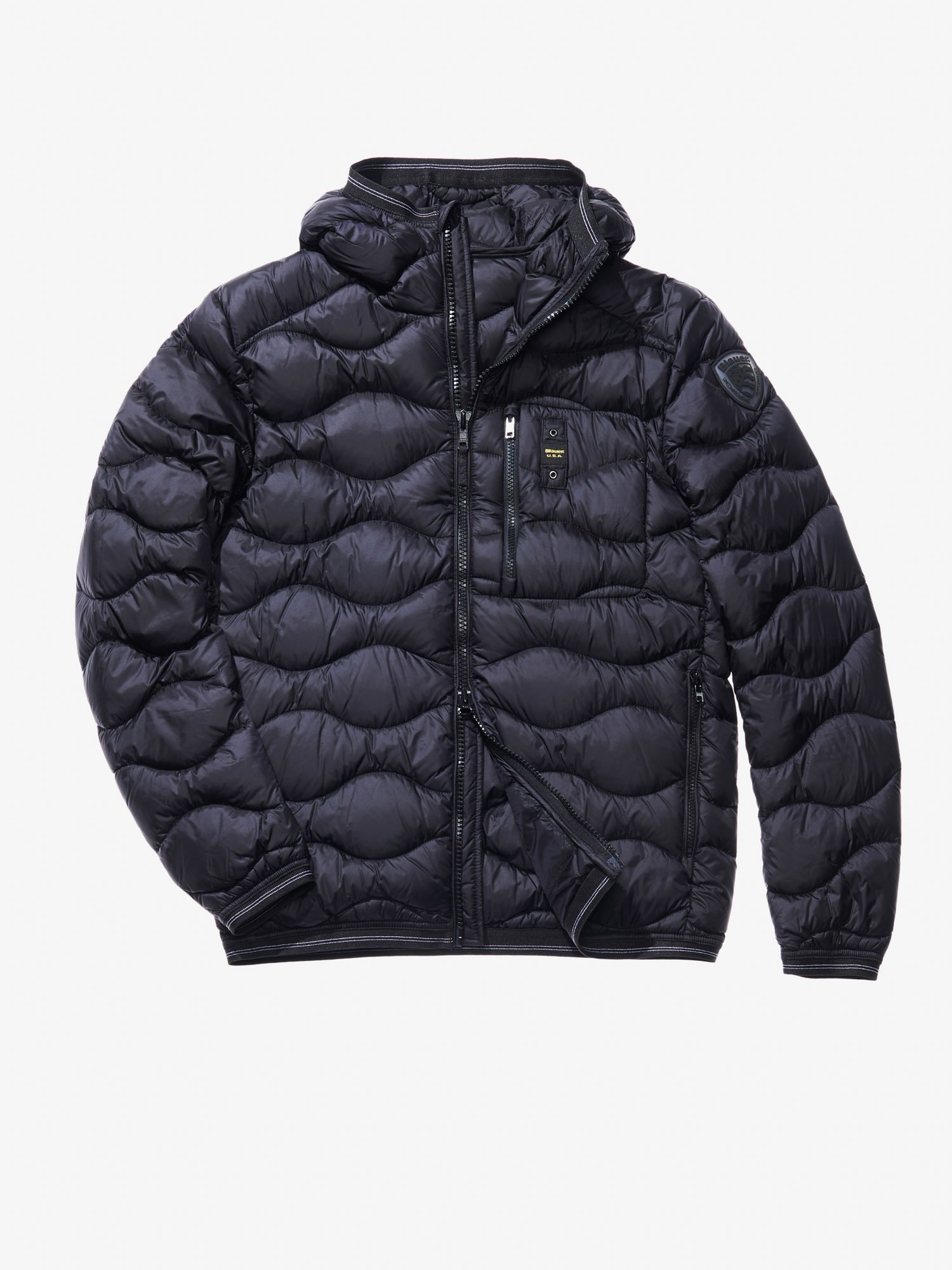 Blauer - DOMENICO WAVE-QUILTED MILITARY-STYLE DOWN JACKET - Black - Blauer
