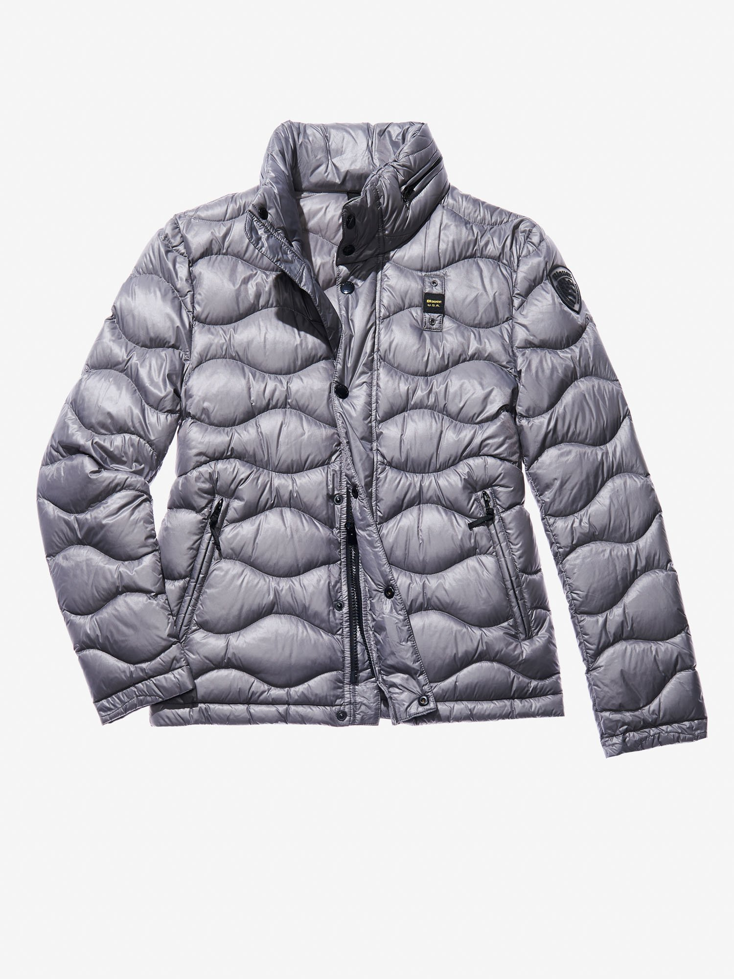 Blauer - TOMMASO ULTRA LIGHT PADDED JACKET WITH HOOD - Cloudy Grey - Blauer