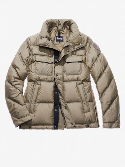 GIOVANNI FOUR-POCKET POLICE-STYLE DOWN JACKET