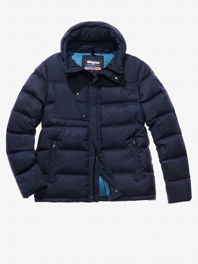 CHRISTIAN COTTON AND NYLON DOWN JACKET