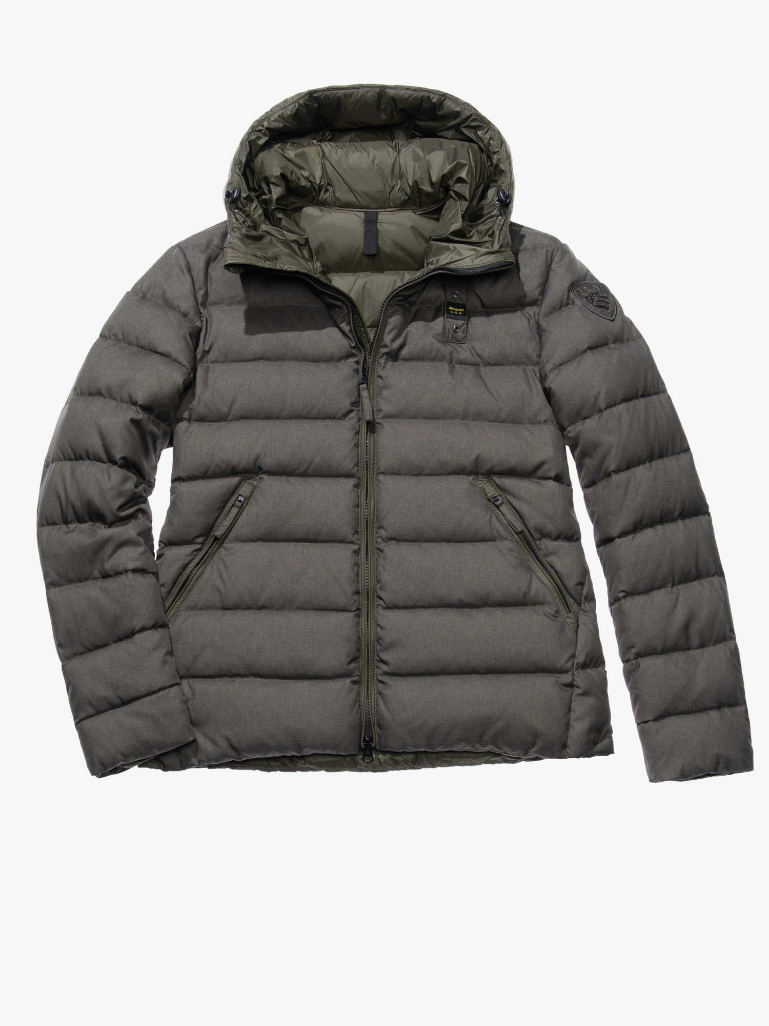 Blauer - EMANUELE NYLON AND GABARDINE DOWN JACKET - Asphalt grey - Blauer