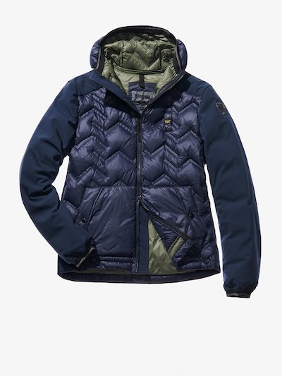 ALESSIO ZIG ZAG HEAT-SEALED DOWN JACKET