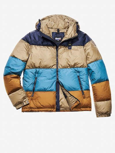 GIOELE FOUR-COLOUR DOWN JACKET