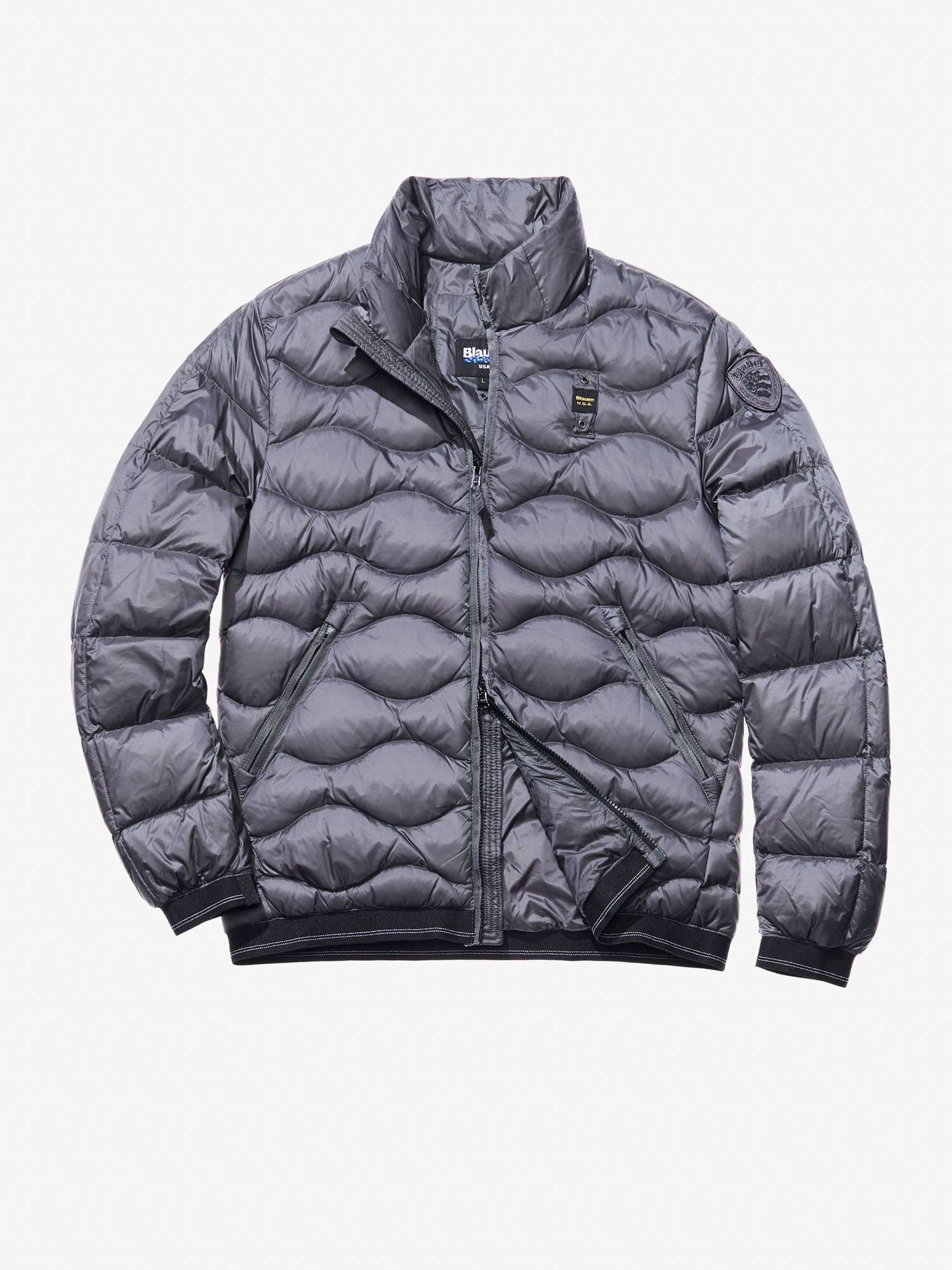 Blauer - ELIA WAVE-QUILTED JACKET - Dark Grey - Blauer