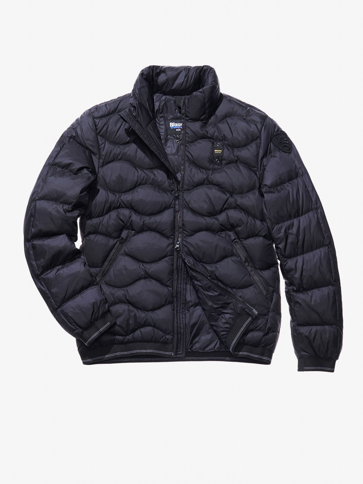 Blauer - ELIA WAVE-QUILTED JACKET - Black - Blauer