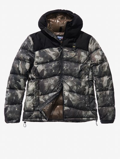 NICOLO' COTTON AND NYLON CAMOUFLAGE DOWN JACKET