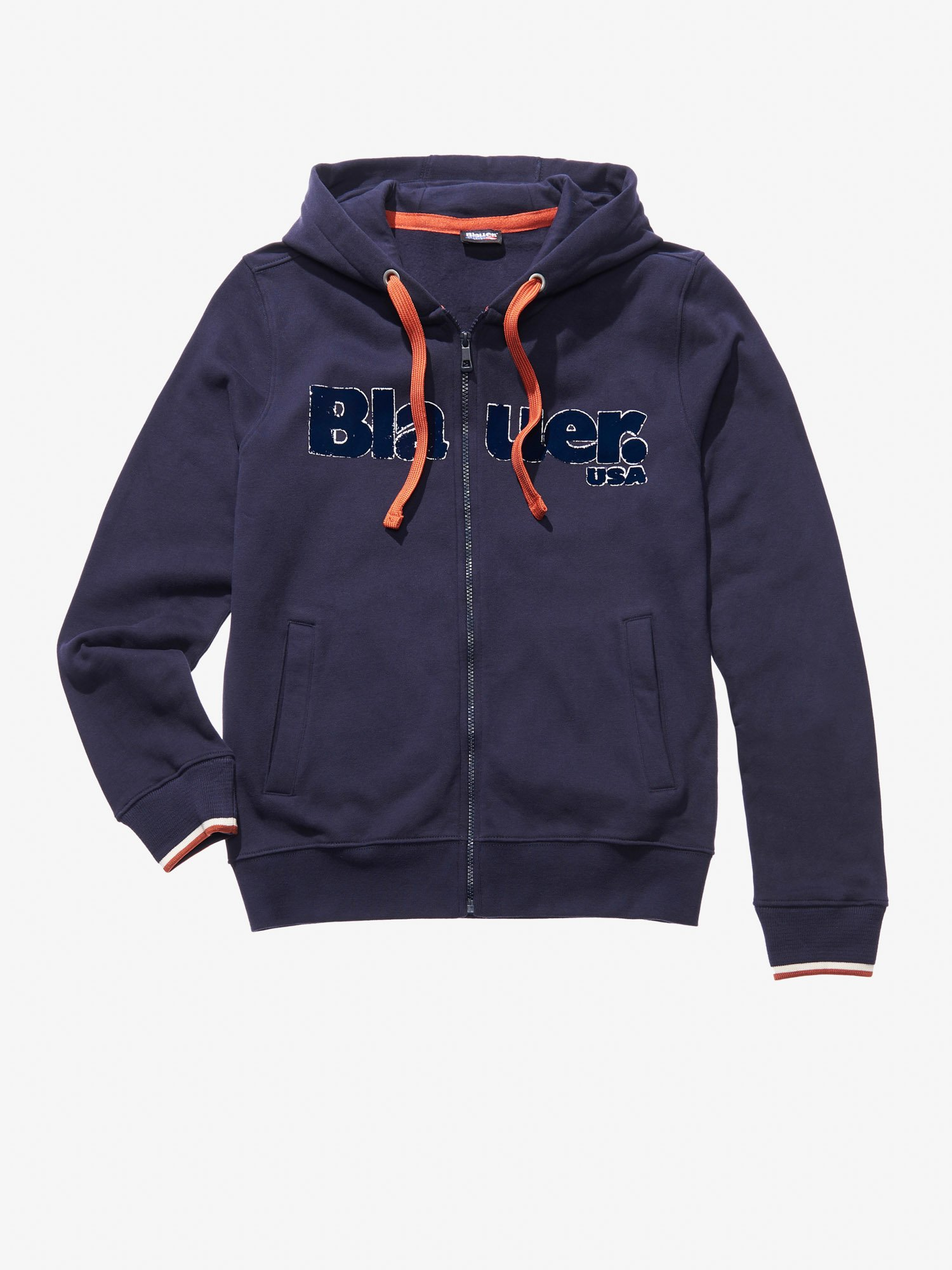 HOODED ZIP HEAVY SWEATSHIRT - Blauer