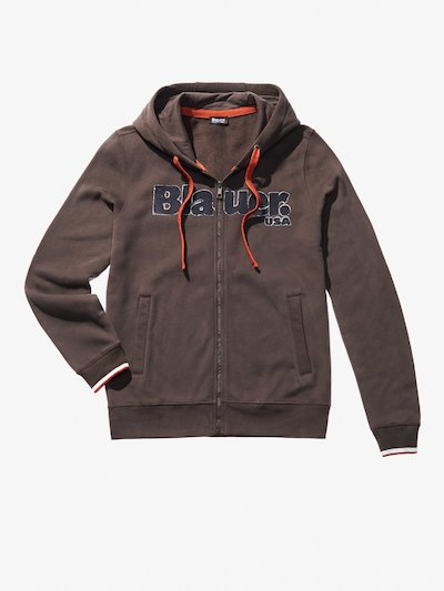 HOODED ZIP HEAVY SWEATSHIRT