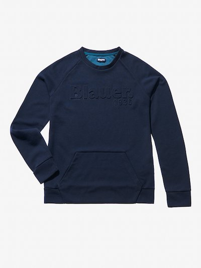 CREW NECK SWEATSHIRT WITH POUCH POCKET