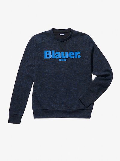 SLUB CREW NECK SWEATSHIRT