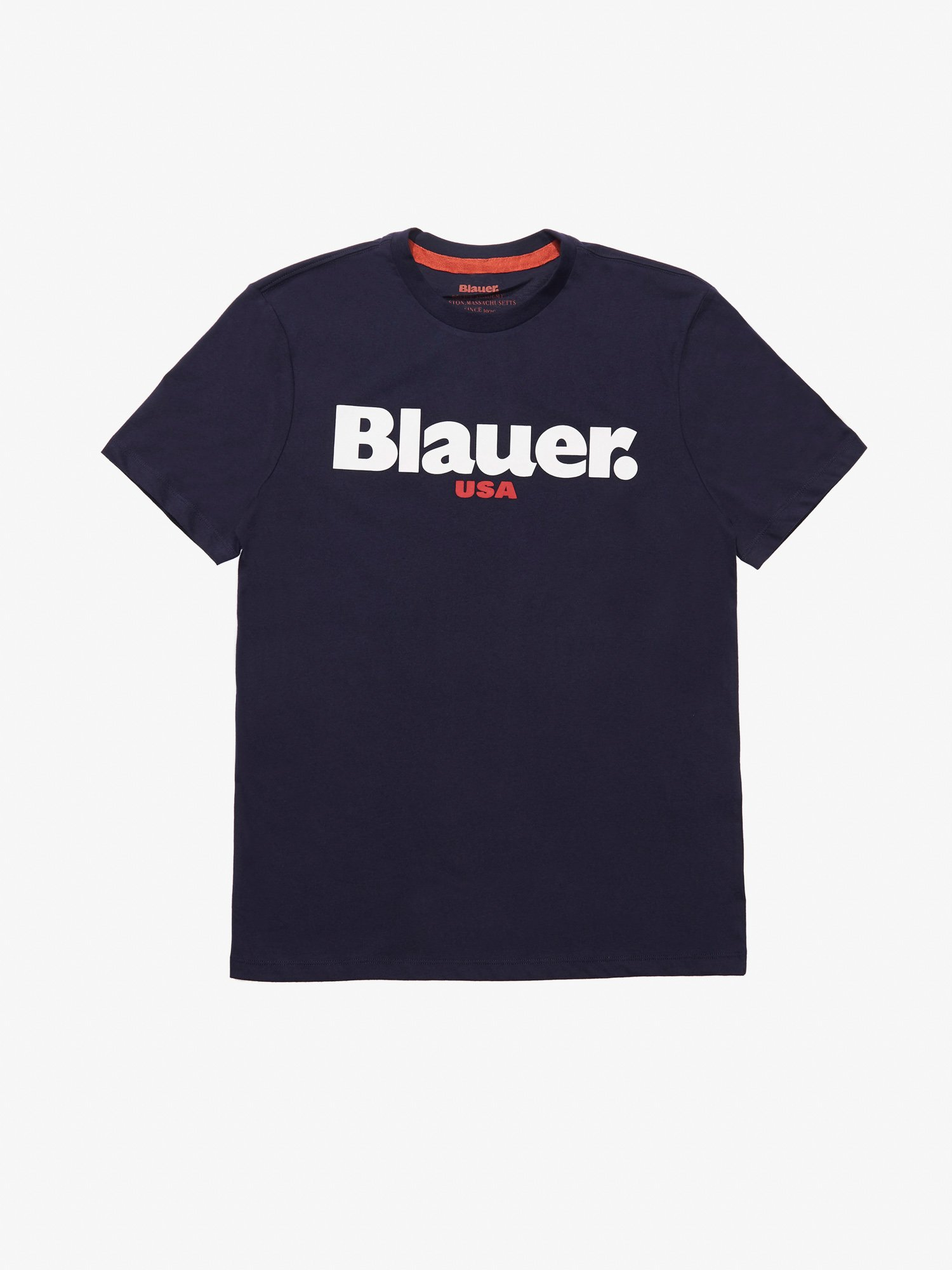 Blauer - CARBON WASHED BLAUER USA T-SHIRT - Dark Night Blue - Blauer