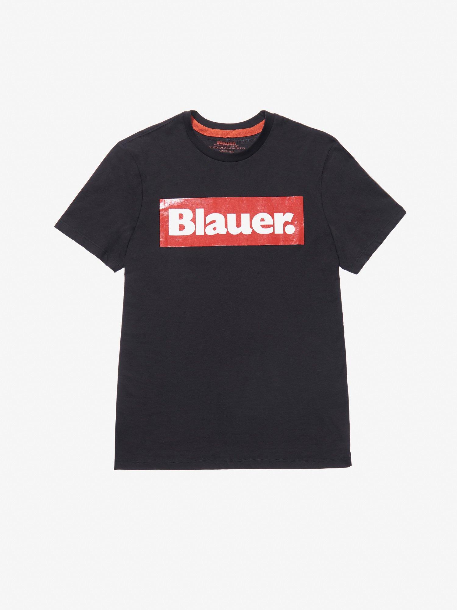 Blauer - BLAUER RECTANGULAR PRINT T-SHIRT - Black - Blauer
