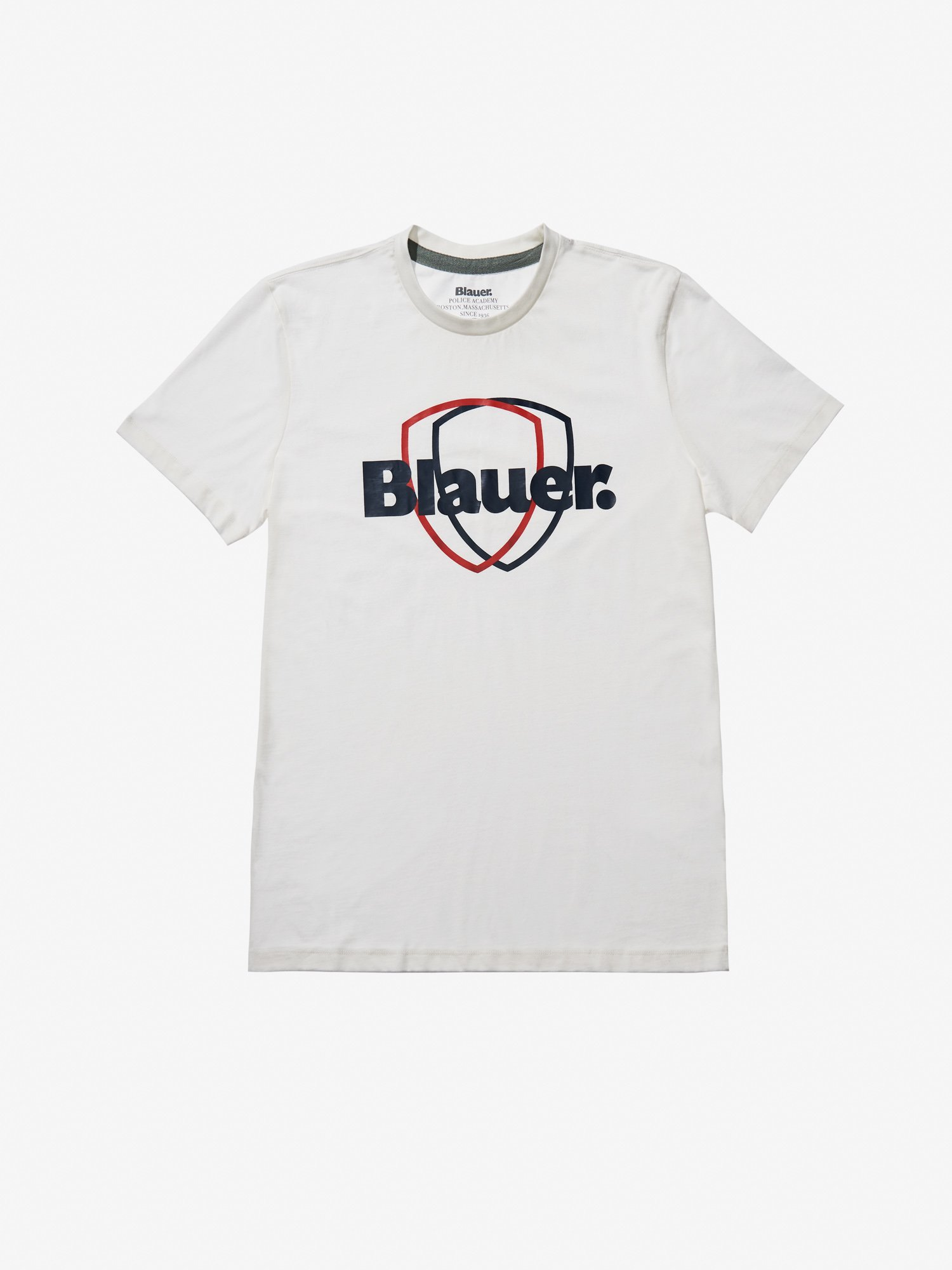 Blauer - DOUBLE SHIELD T-SHIRT - Gardenia - Blauer