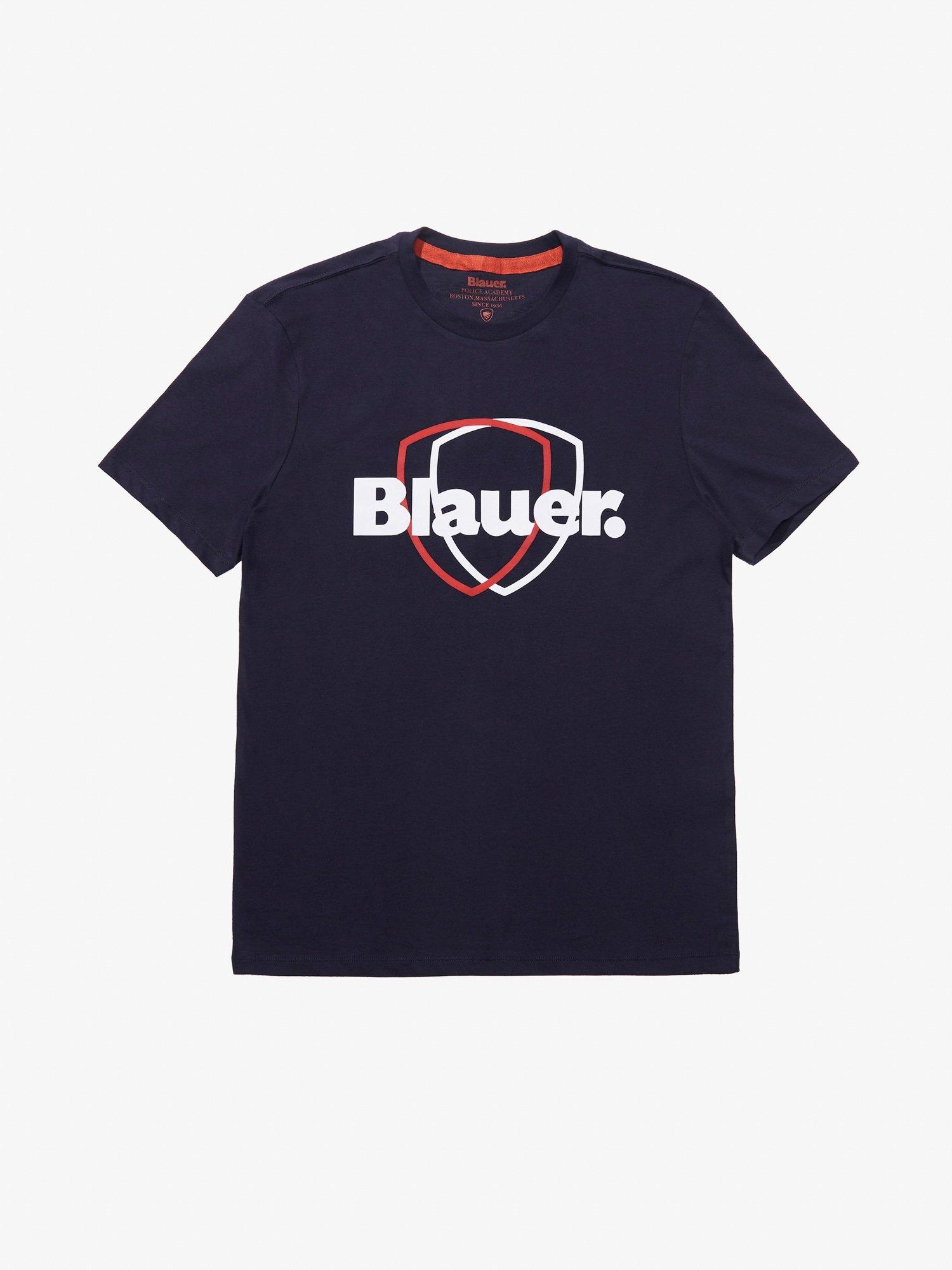 T-SHIRT DOPPIO SCUDO - Blauer