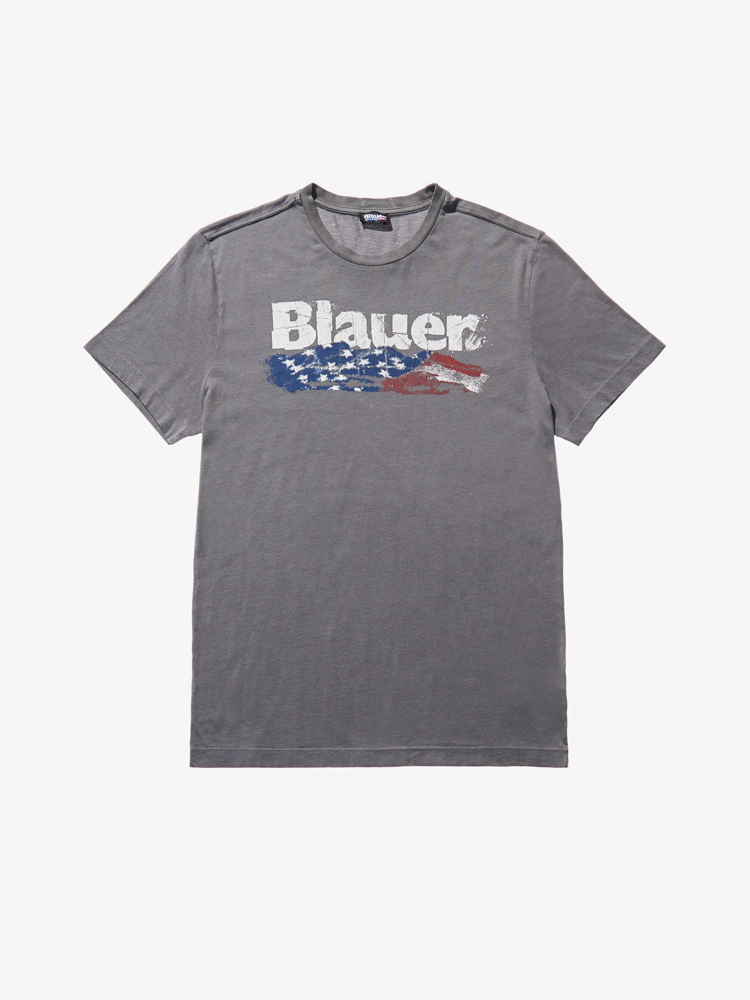 Blauer - FLAG T-SHIRT - Dark Grey - Blauer