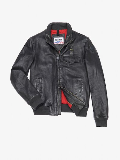 GIORGIO PADDED LEATHER BOMBER JACKET