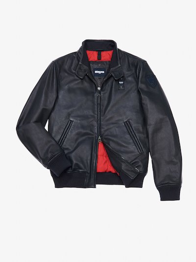 ENRICO PADDED LEATHER BOMBER JACKET