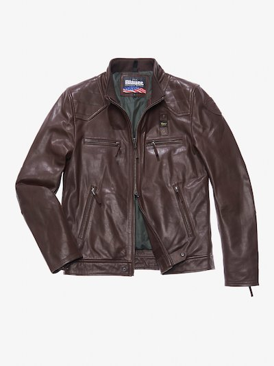 GIANLUCA FOUR-POCKET LEATHER JACKET